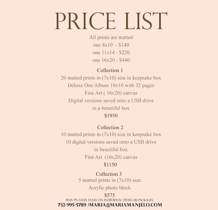 Pricing Questions: New Jersey Portrait Photographer