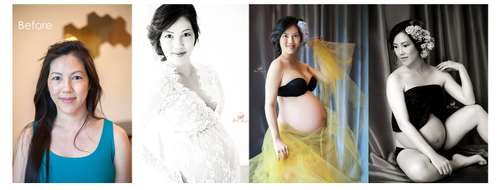 Pregnancy Photography - Before and After
